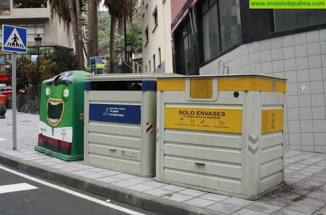La recogida de residuos domésticos en La Palma crece durante el primer semestre de 2018