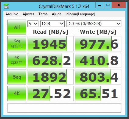 04 SSDs em RAID-10