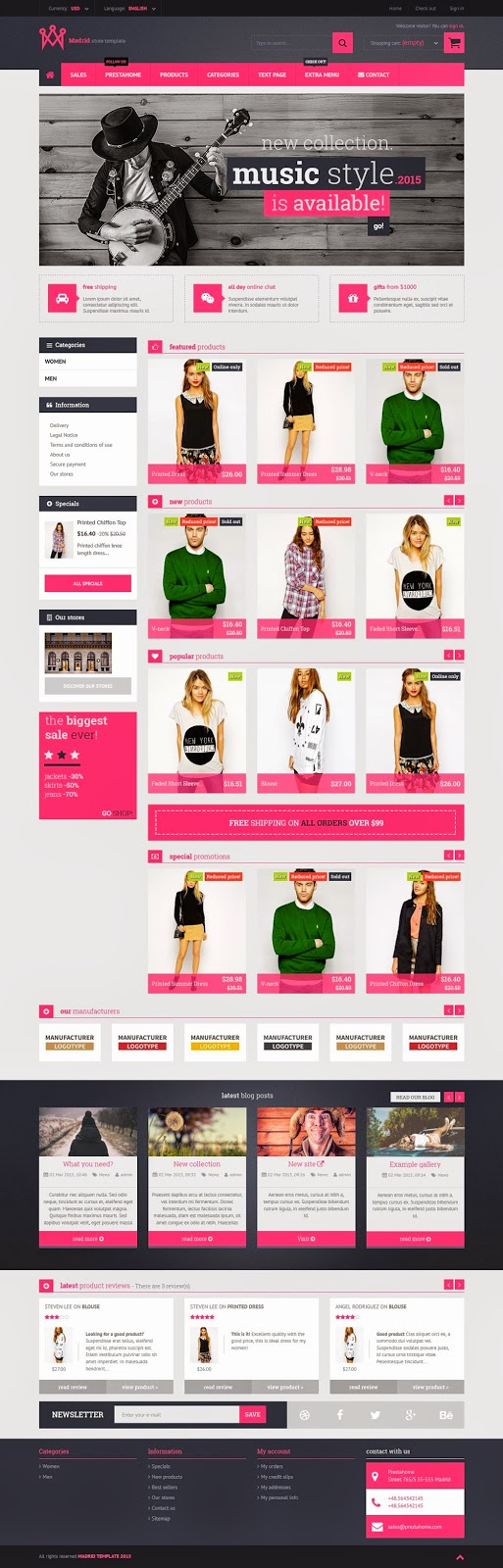 Best Responsive Prestashop Theme 2015