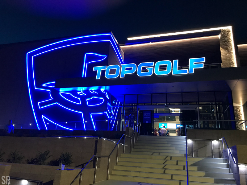 TOPGOLF Minneapolis night view
