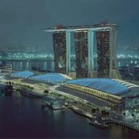 Malam tahun baru di hotel Marina Bay Sands di Singapore.
