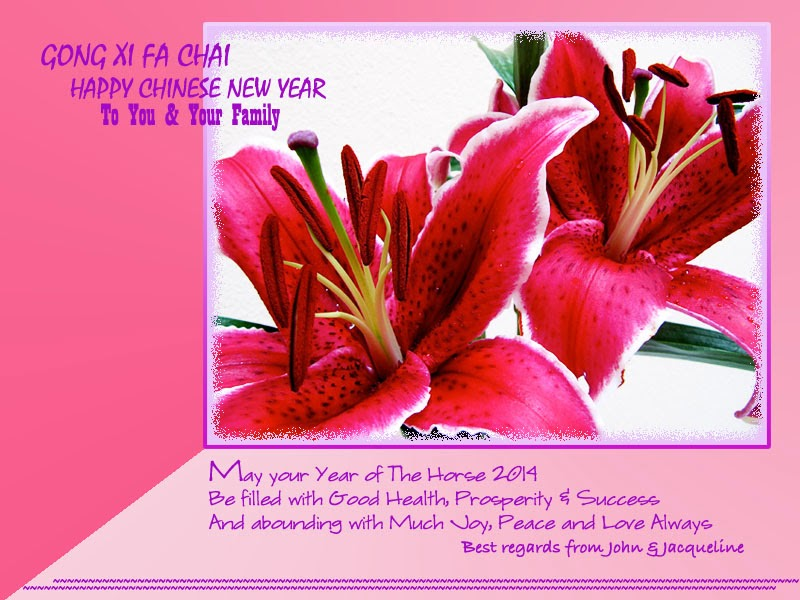 2013 2014 Chinese New Year greeting card