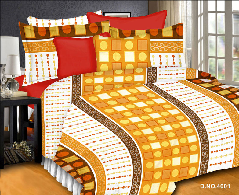 Platinum 4 – Exclusive Cotton Printed Double Bedsheet With Pillow Covers
