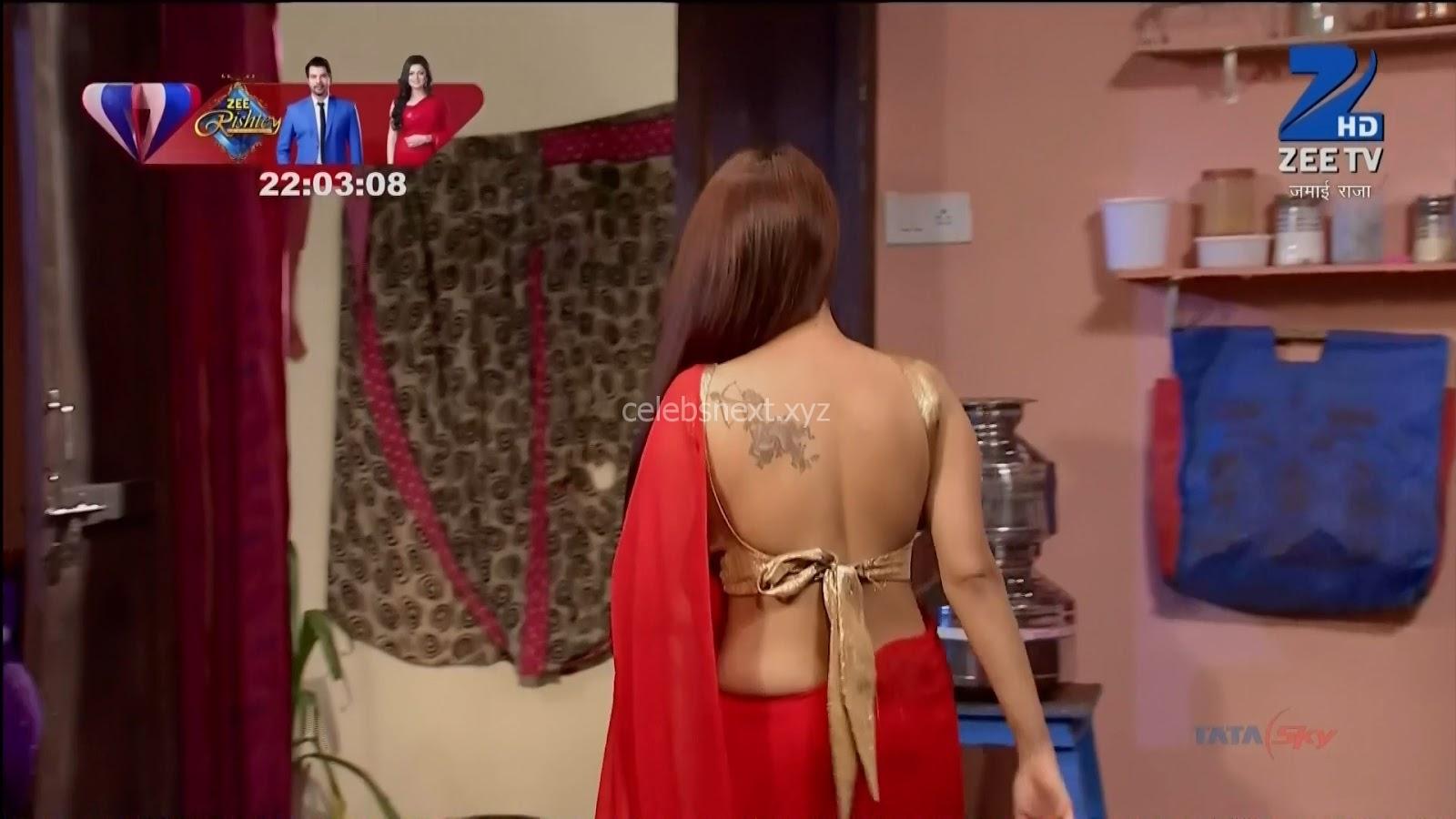 Shagun Ajmanio aka Garima Ajmani Spicy TV Show Actress in Transparent Saree