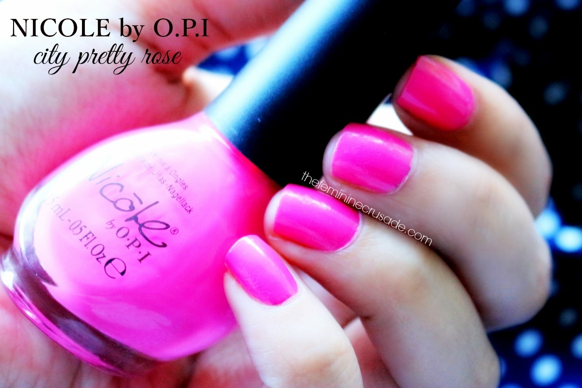 Nicole by OPI City Pretty Rose
