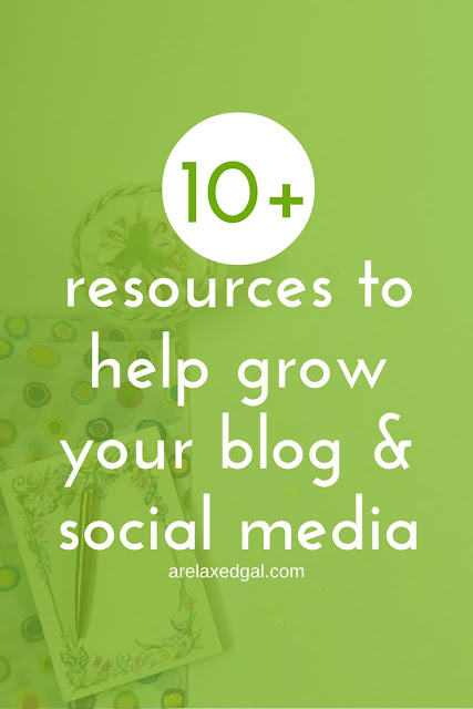 Grow your blog with this list of 10+ tools and resources that I have or currently use for blogging, design and managing my social media. | arelaxedgal.com
