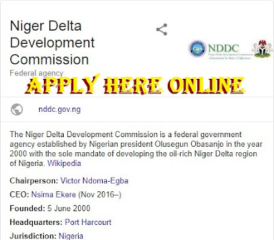 Niger Delta Development Commission Recruitment 2018/2019 | Apply Here Now