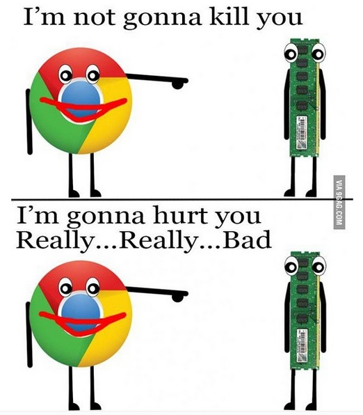 google chrome x ram memory