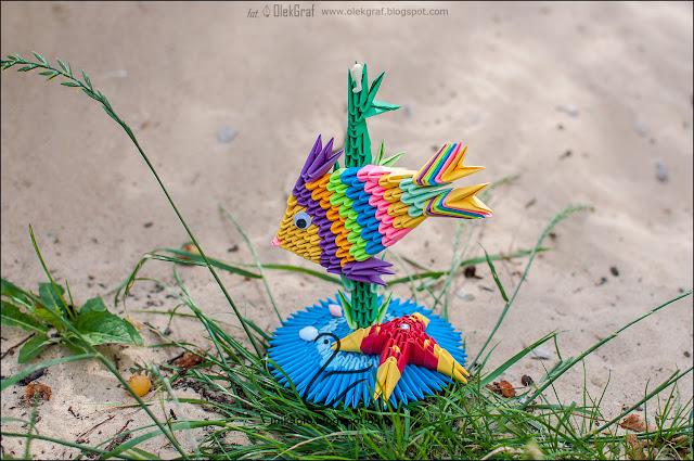 587. Rybka z origami 3d / 3d origami fish