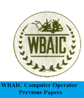 WBAIC Computer Operator Previous Papers