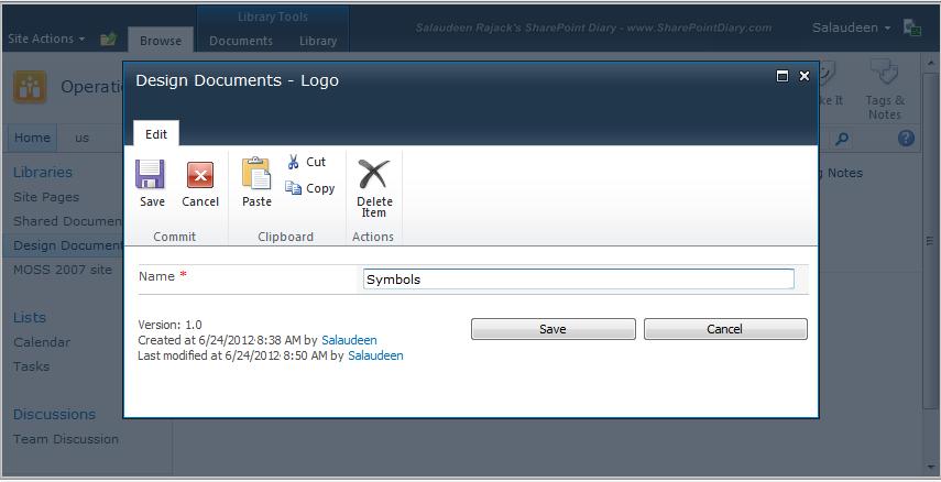 sharepoint 2010 rename folder programmatically