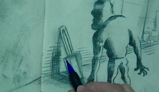 bic matic pencil in movie sketch