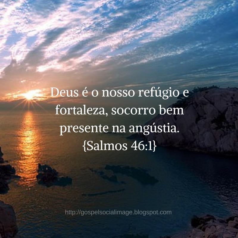 Imagem com versículo de boa noite gospel - Salmos 46.1
