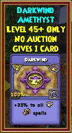 Darkwind - Wizard101 Card-Giving Jewel Guide