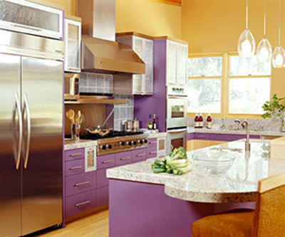 Cabinets For Kitchen Purple Kitchen Cabinets