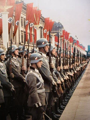 Hitler's birthday, 20 April 1939 color photos of World War II worldwartwo.filminspector.com
