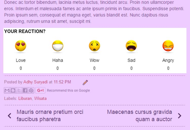 Membuat Widget Feelback Atau Emoticon Reaction Lucu Di Postingan Blog