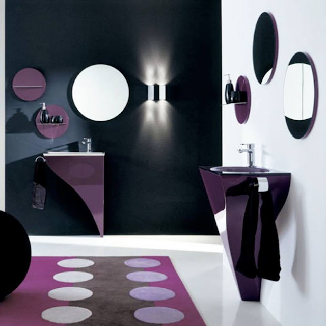 Majestically Pleasing Purple and Lavender Bathroom Design Ideas 2016