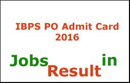 IBPS PO Admit Card 2016