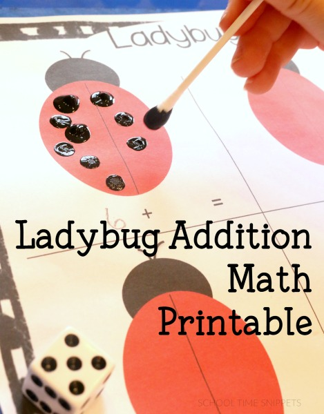 By adding ladybug spots, your child will see how addition is combining two numbers to get a larger number. We love simple math games!