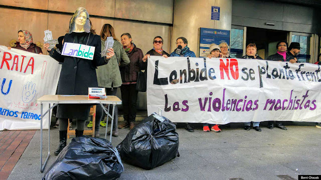 Protesta contra Lanbide