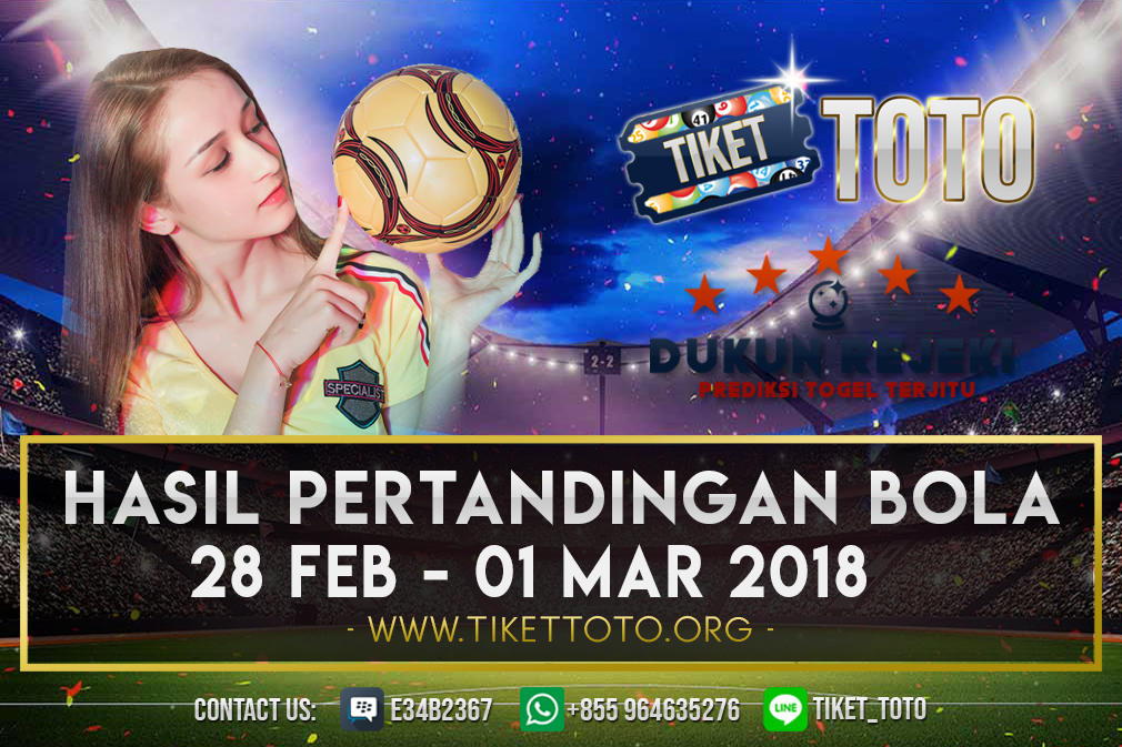 HASIL PERTANDINGAN BOLA 28 FEB – 01 MAR 2019