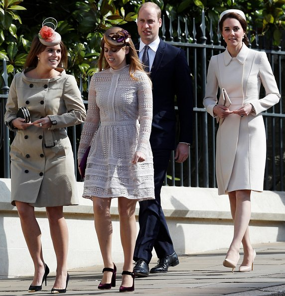 Queen Elizabeth, Catherine, Duchess of Cambridge, Kate Middleton, Prince William, Sophie, Countess of Wessex, Lady Louise Windsor, James Viscount Severn, Princess Anne, Princess Beatrice, Princess Eugenie