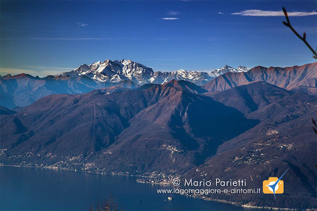 Lago Maggiore, castelli di Cannero, Monte Rosa