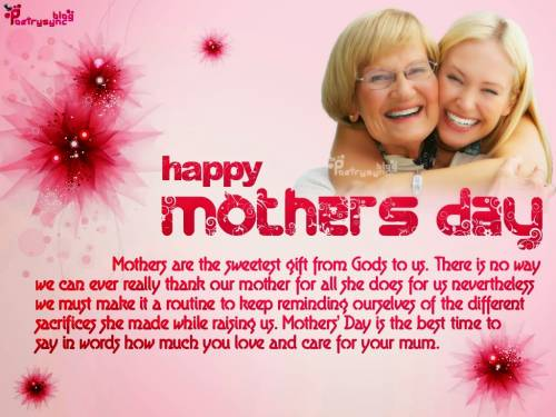 Top #15 Happy Mothers Day Wishes, Mothers Day SMS 2017