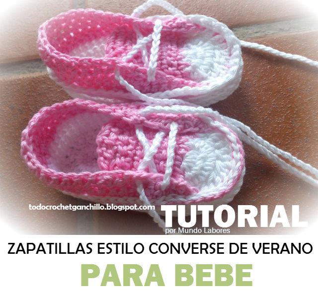 como tejer patucos con forma de zapatillas para verano