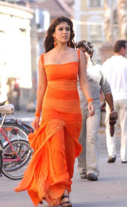 nayanthara in orange dress photo gallery