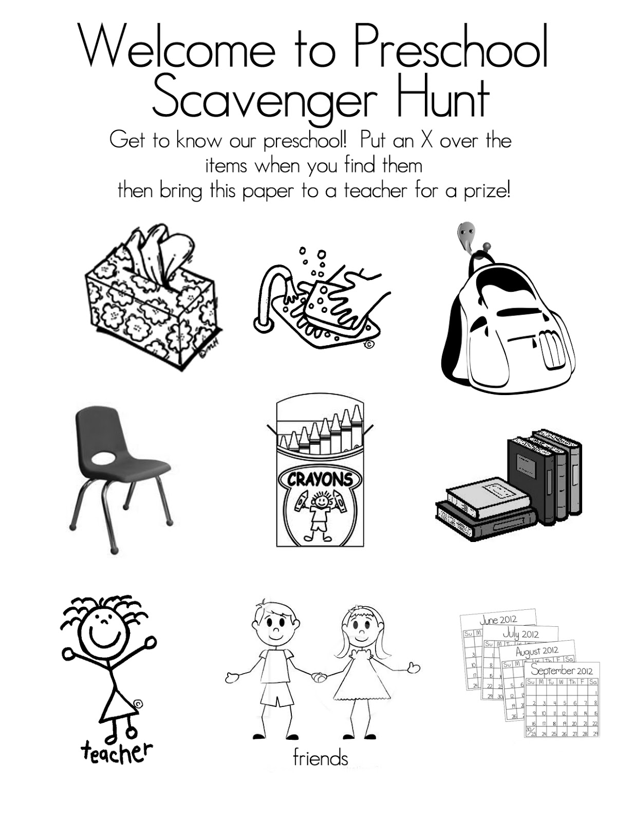 photograph relating to Classroom Scavenger Hunt Printable referred to as Preschool Open up Place No cost Printable Scavenger Hunt - Guidelines
