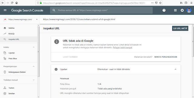 Cara Terbaru Submit URL di Google Webmaster Agar Artikel Mudah Terindeks