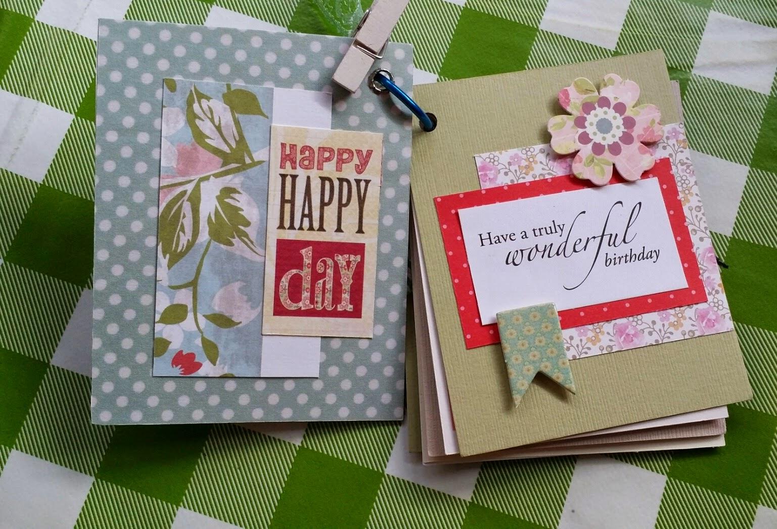 handmade with loveain birthday card idea  mini