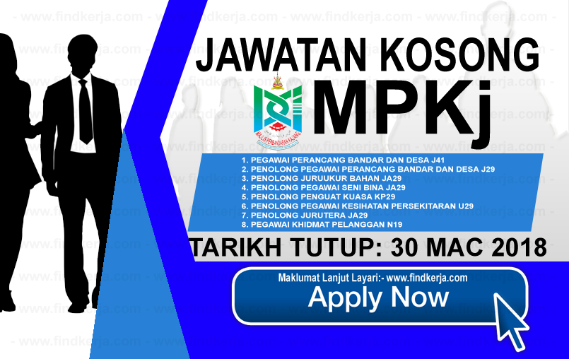 Jawatan Kerja Kosong MPKj - Majlis Perbandaran Kajang logo www.findkerja.com mac 2018