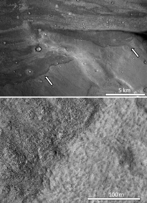 Depositos de sedimentos mostram evidências de tsunamis marcianos