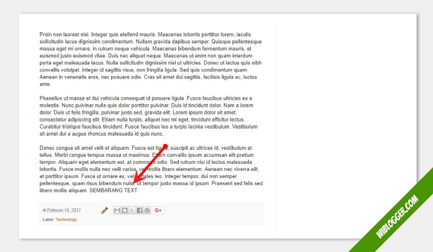 Cara memasang iklan AdSense Dibawah judul postingan