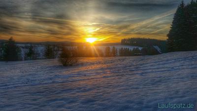 Training für Rodgau 50 Ultralauf Sonnenaufgang