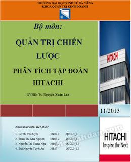Quản trị Chiến lược - Phân tích tập đoàn Hitachi
