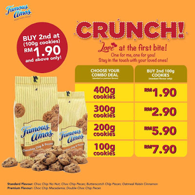 Famous Amos Cookies Malaysia Combo Deal Discount Offer Promo