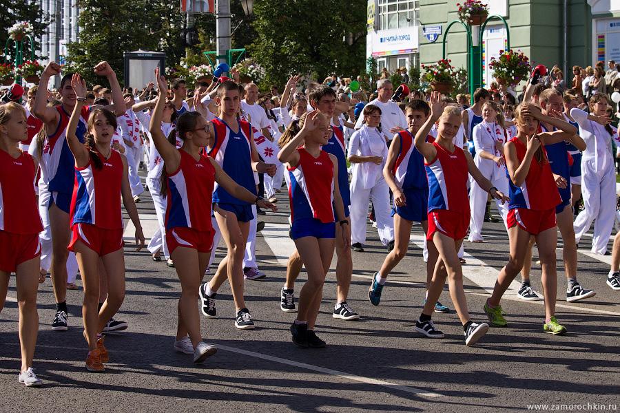 Спортсмены Мордовии на праздновании тысячелетия единения мордовского народа с народами России