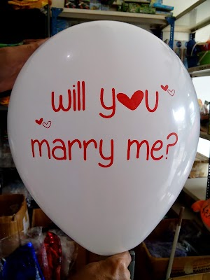 Balon Dekorasi 12 Inchi Printing Will You Marry Me