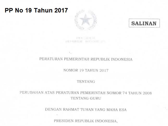 Inilah Peraturan Pemerintah (PP) Nomor 19 Tahun 2017 Tentang Guru img