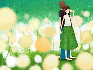 Gambar pasangan kartun cinta romantis