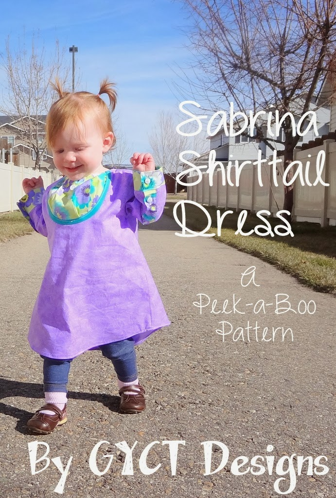 Sabrina Shirttail Dress from Peek-a-Boo Patterns by GYCT