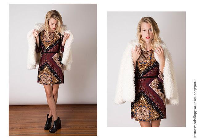 Moda invierno 2016 ropa de moda mujer vestidos.