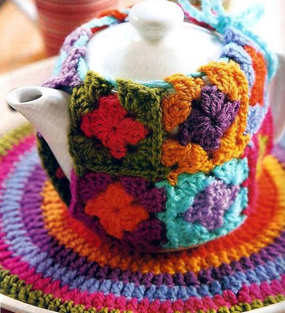 Patrón #1275: Set para Te a Crochet