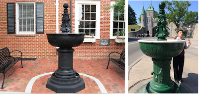Fountains in Charlottesville and Quebec City