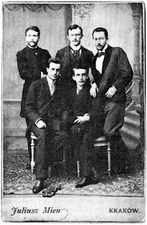 Stanisław Estreicher, Wyspiański, Rydel, Maszkowski, Opieński Fot Wikimedia Commons
