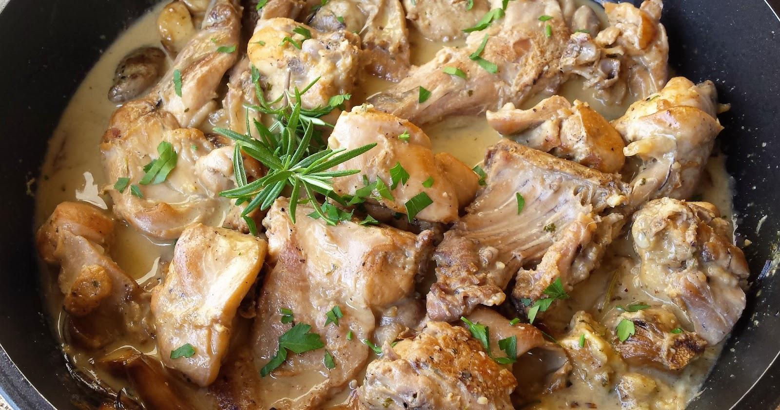 Les receptes que m 39 agraden conejo al ajillo for Cocinar un conejo